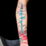 Rocket Flight Drawing Tattoo