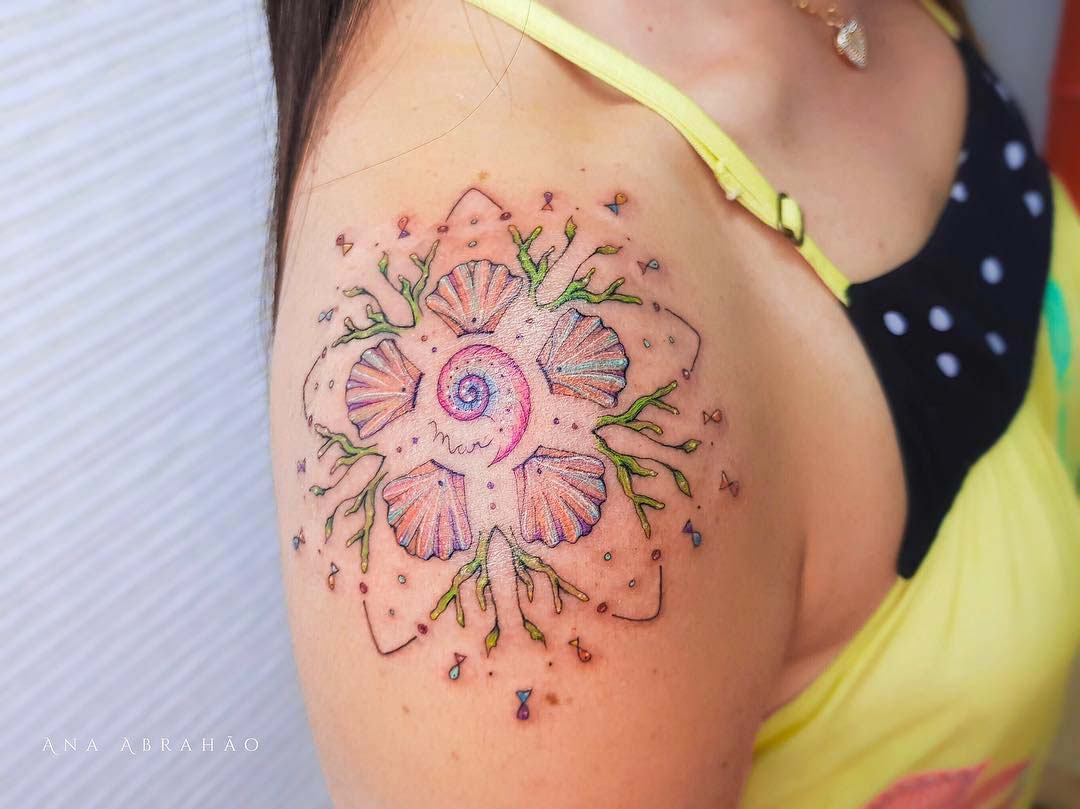 shoulder tattoo starfish