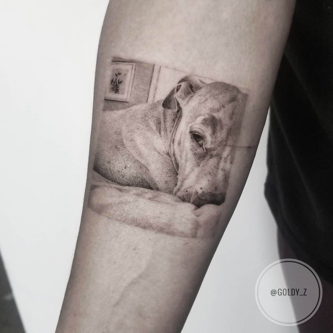 puppy tattoo