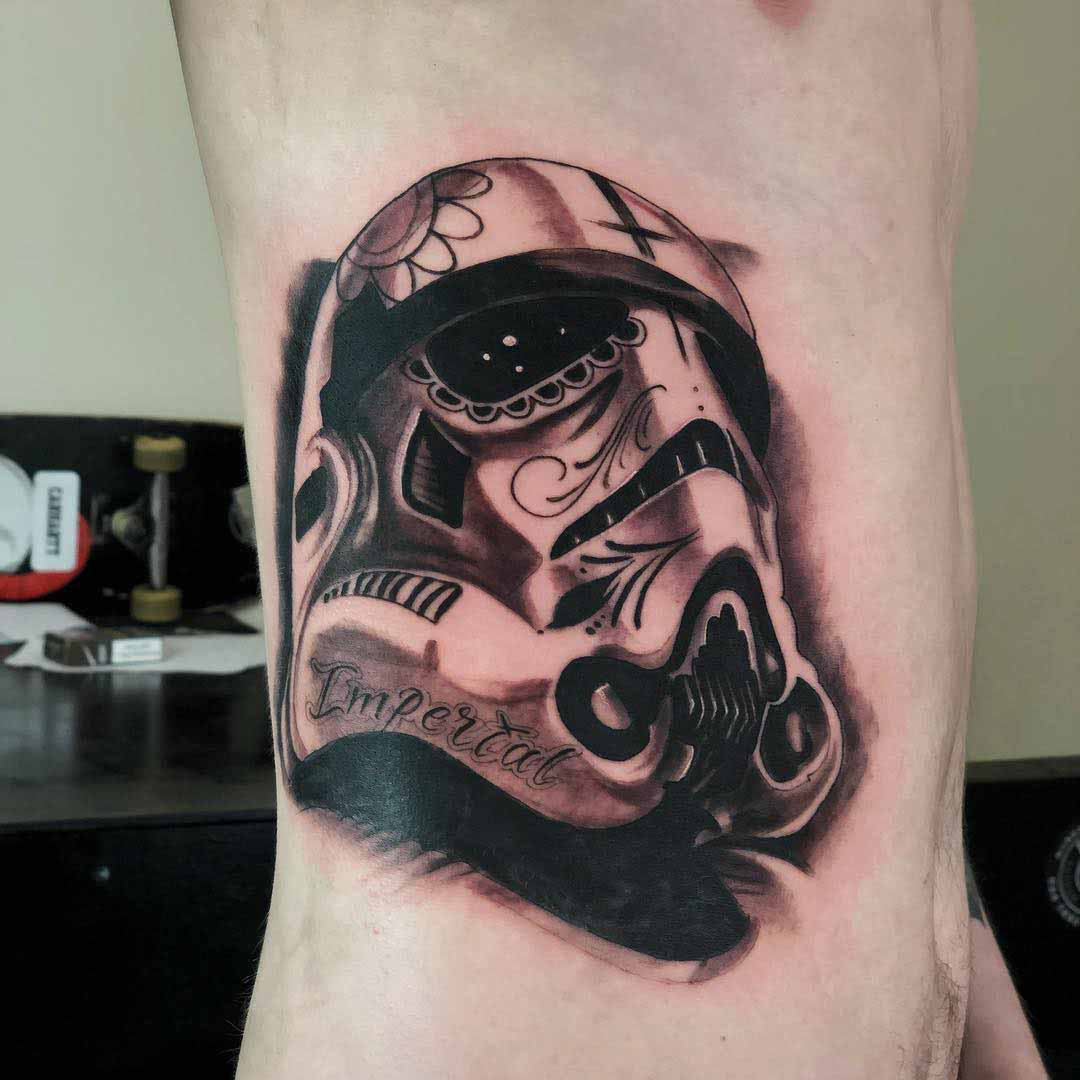 side belly tattoo stormtrooper