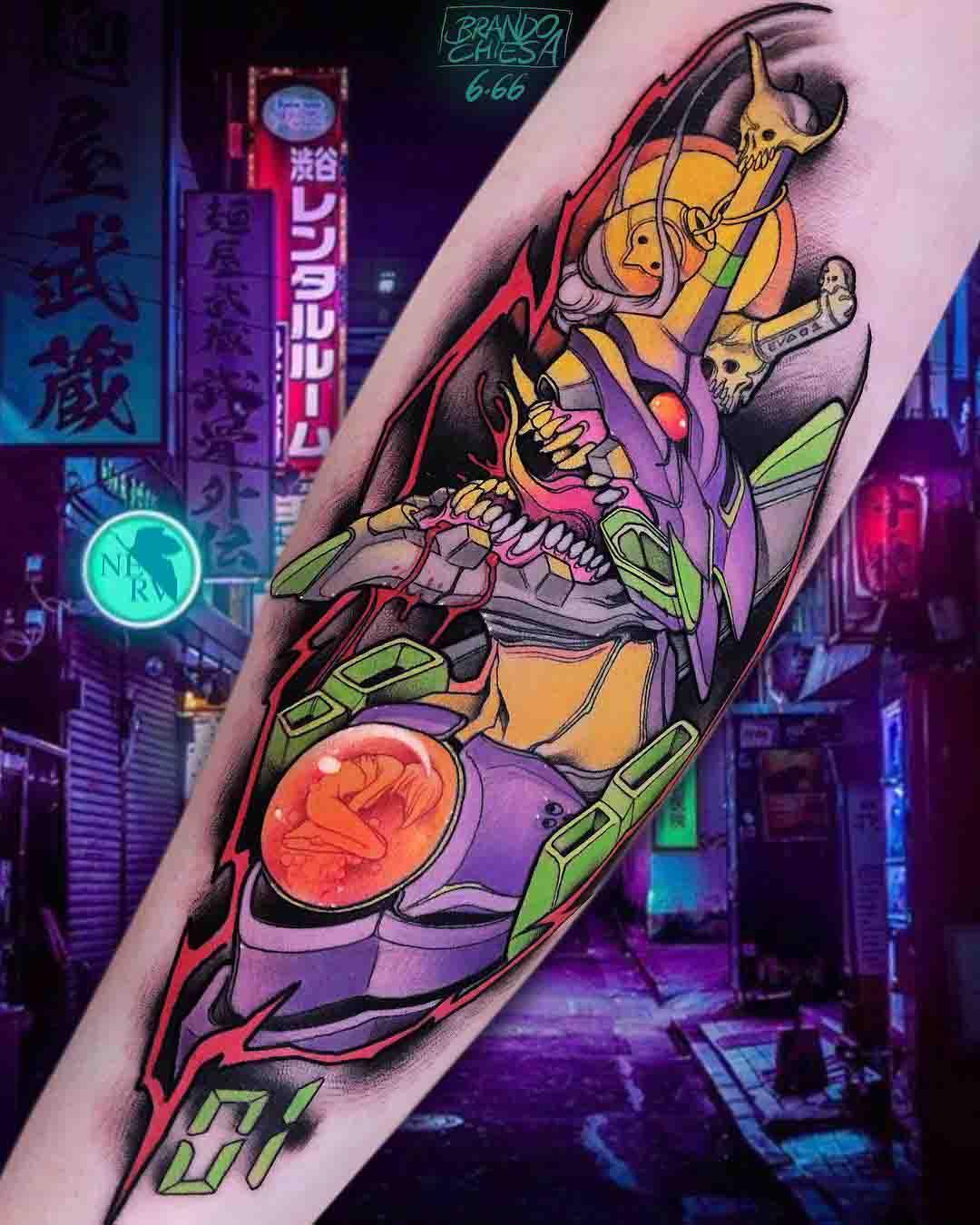 anime tattoo unit 01