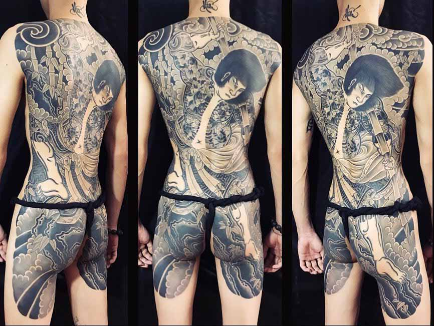 full back yakuza tattoo