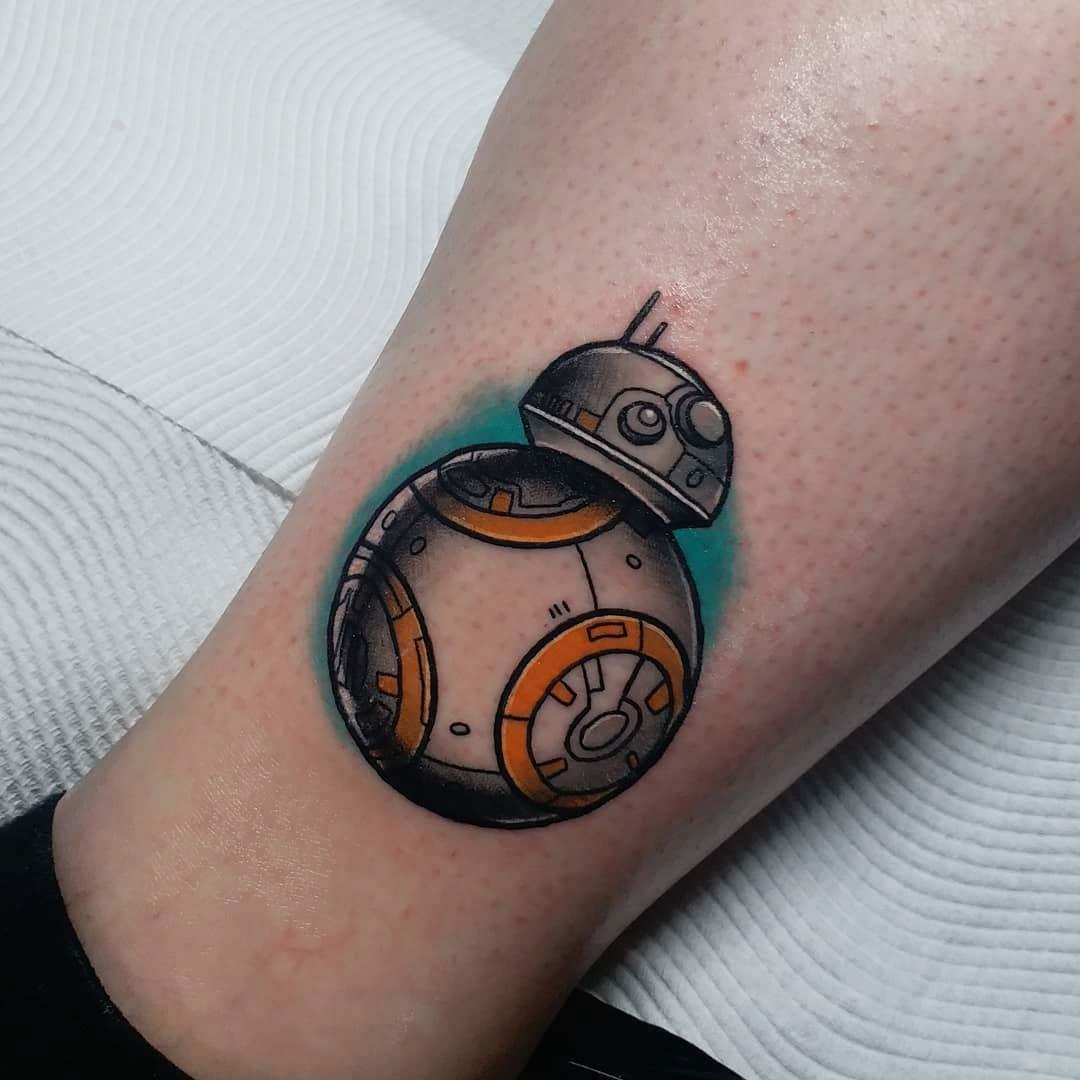 star wars tattoo bb8
