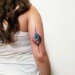 Back of Arm Ying Yan Tattoo