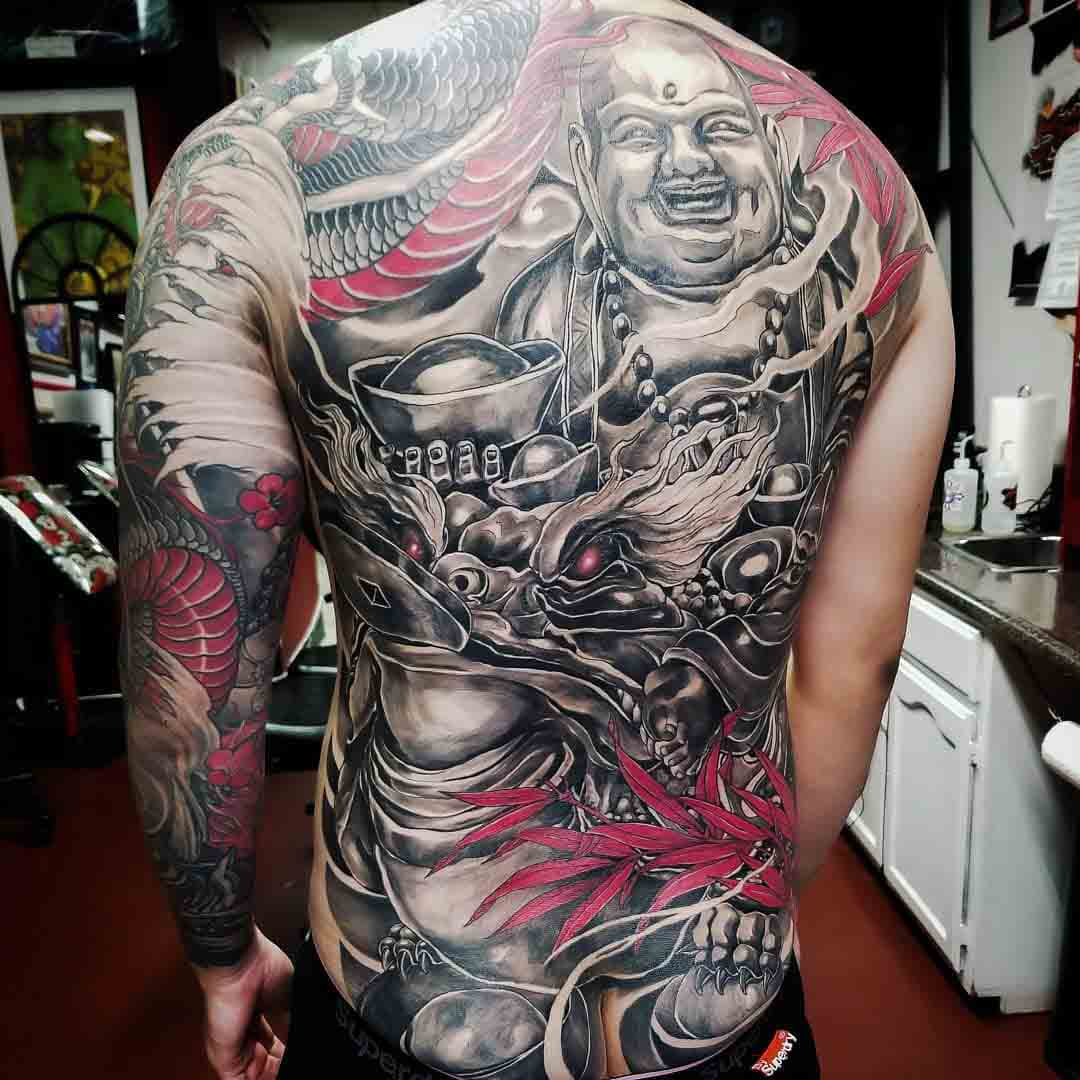 back tattoo chinese