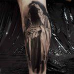 Death Tattoo on Calf