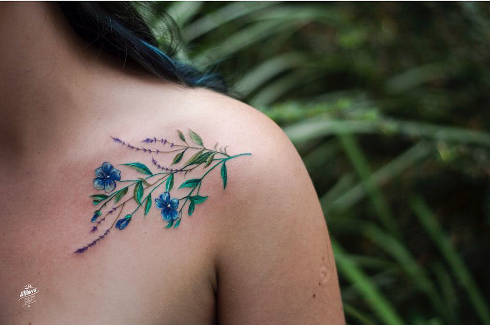 collar bone flowers