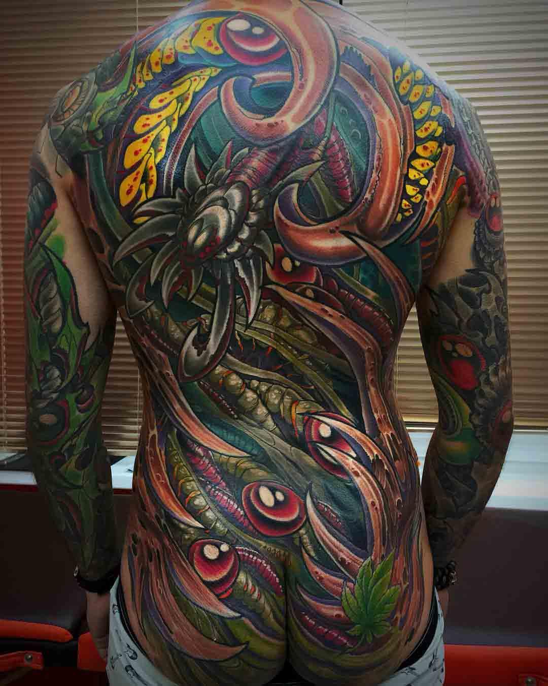 back tattoo organic