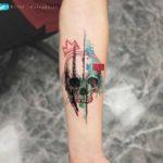 Interesting Skull Tattoo