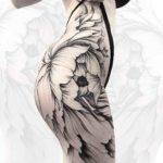 Big Flower Tattoo on Hip