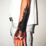 Crow Attack Tattoo