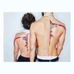 Ornament Couple Tattoos on Back