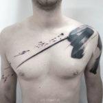 Blackwork Brush Tattoo