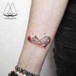 Cat Wool Yarn Tattoo