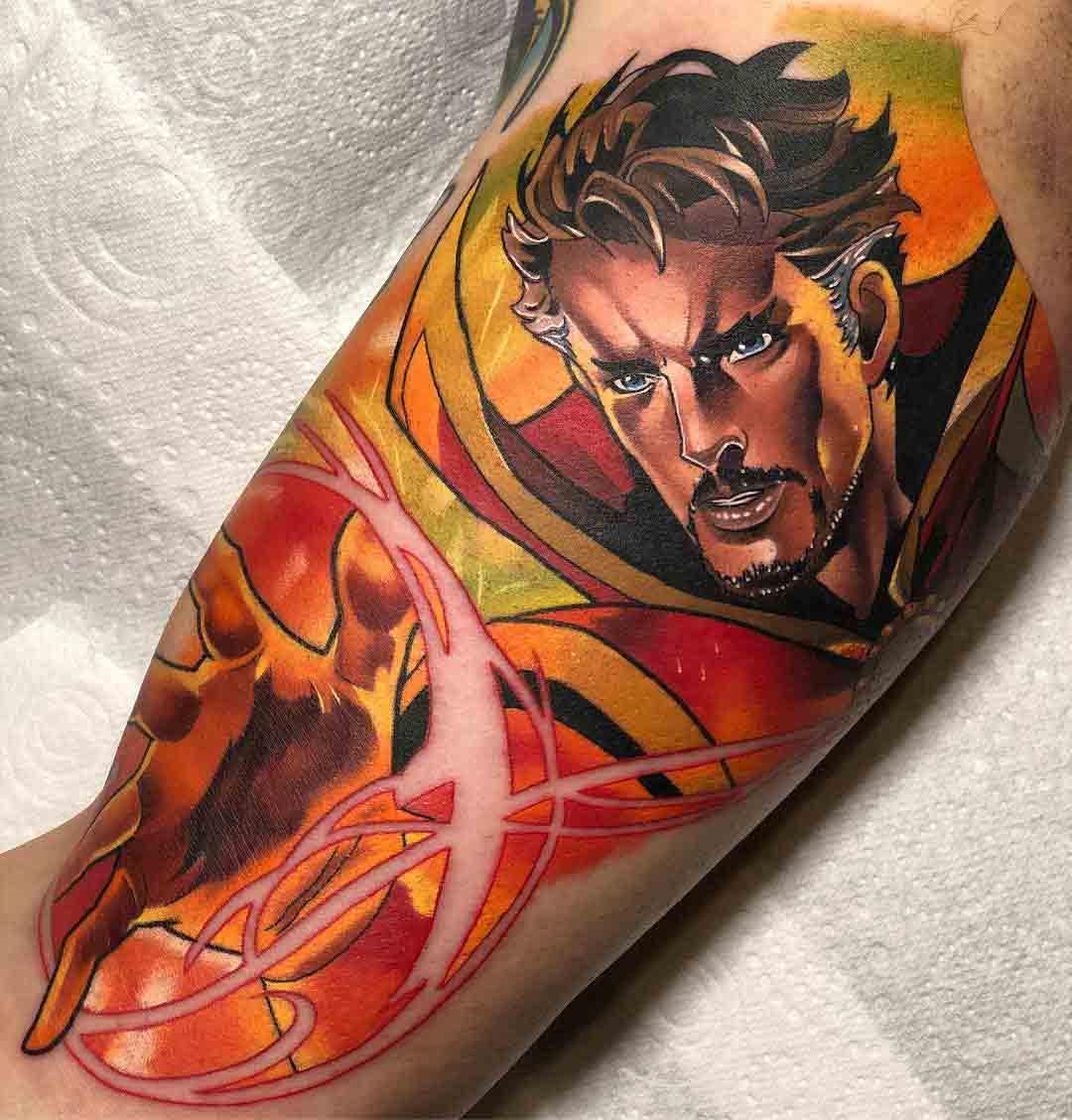 bicep tattoo dr. strange