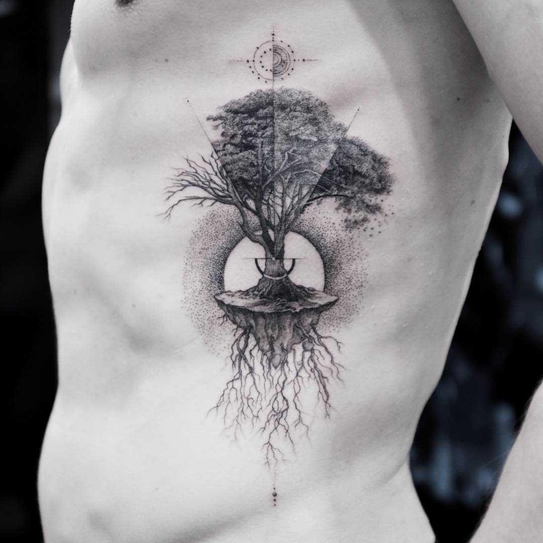 ribs tattoo tree