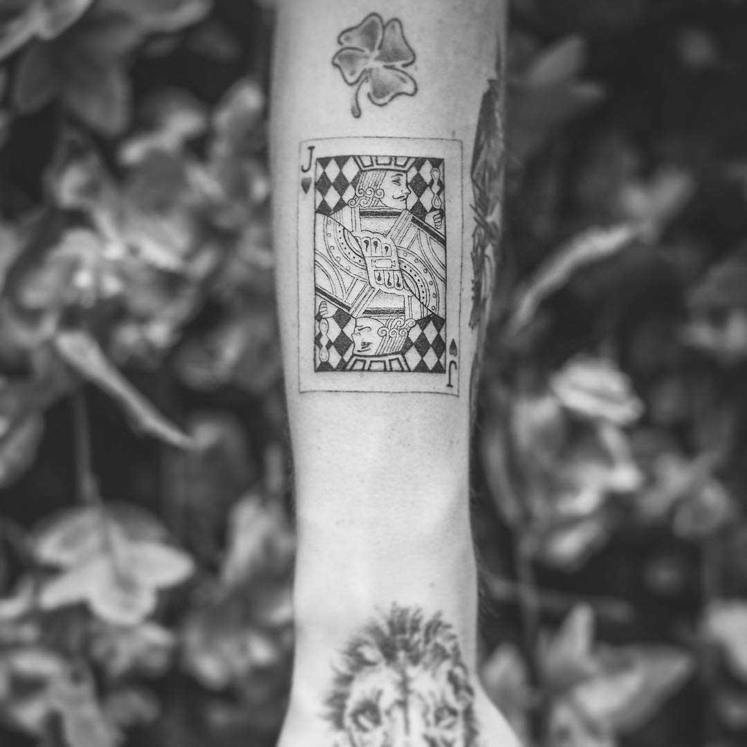 arm tattoo jack card
