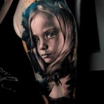 Little Girl Portrait Tattoo