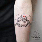 Mountain Hedgehog Tattoo