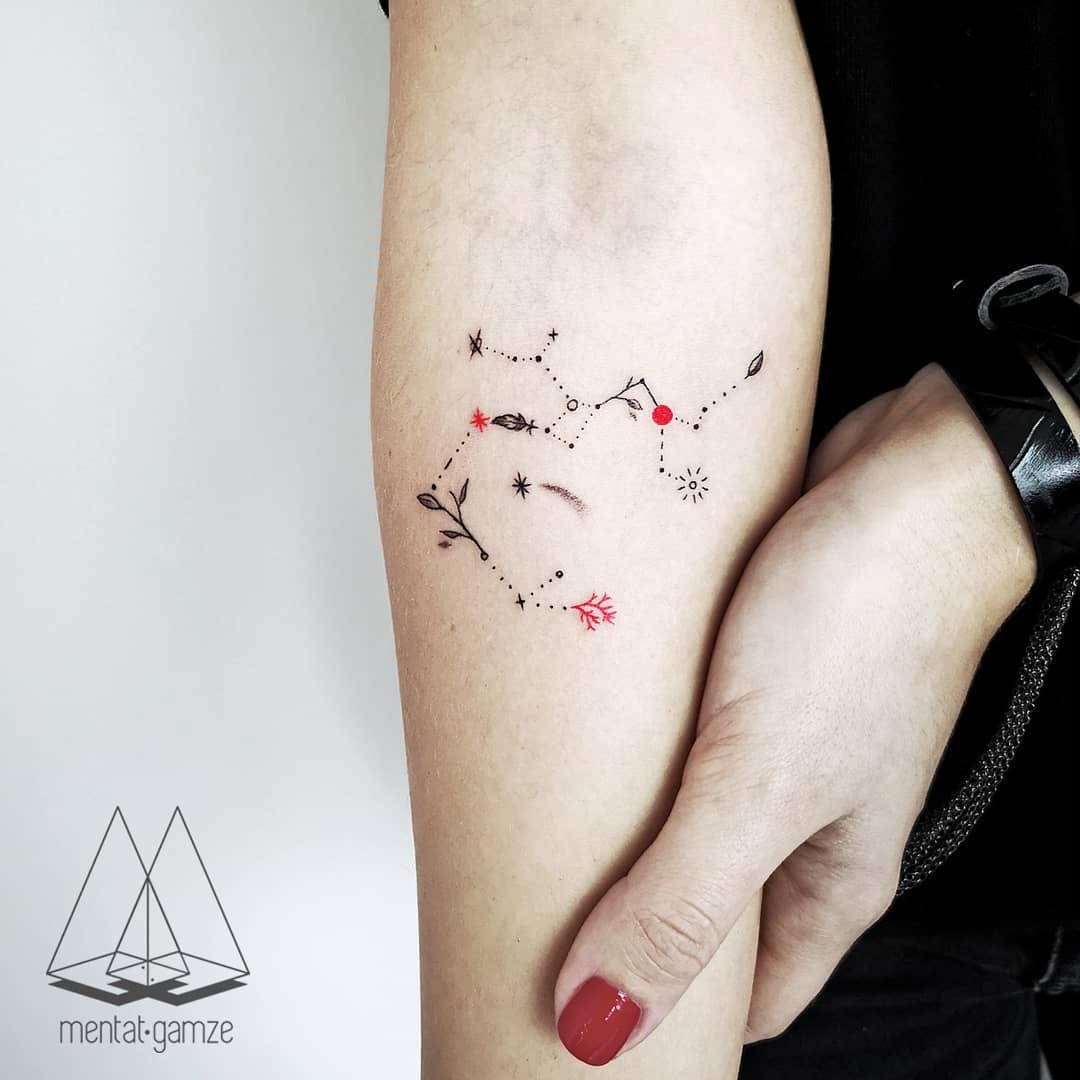 arm tattoo constellation sagittarius