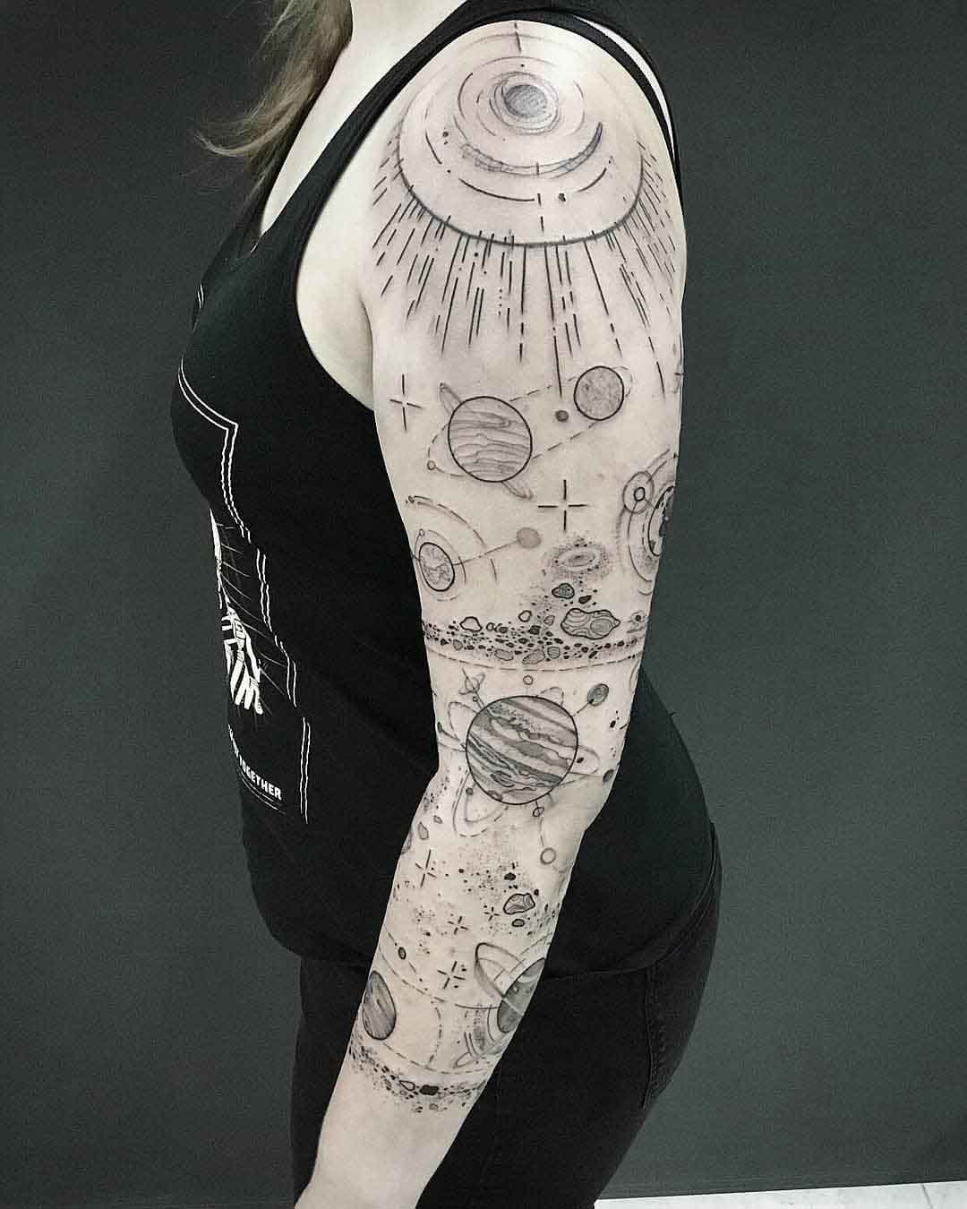 tattoo sleeve space