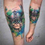 Viking Cat Tattoo