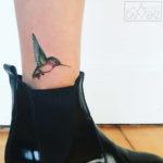 Hummingbird Tattoo on Ankle