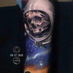 Space Skull Tattoo