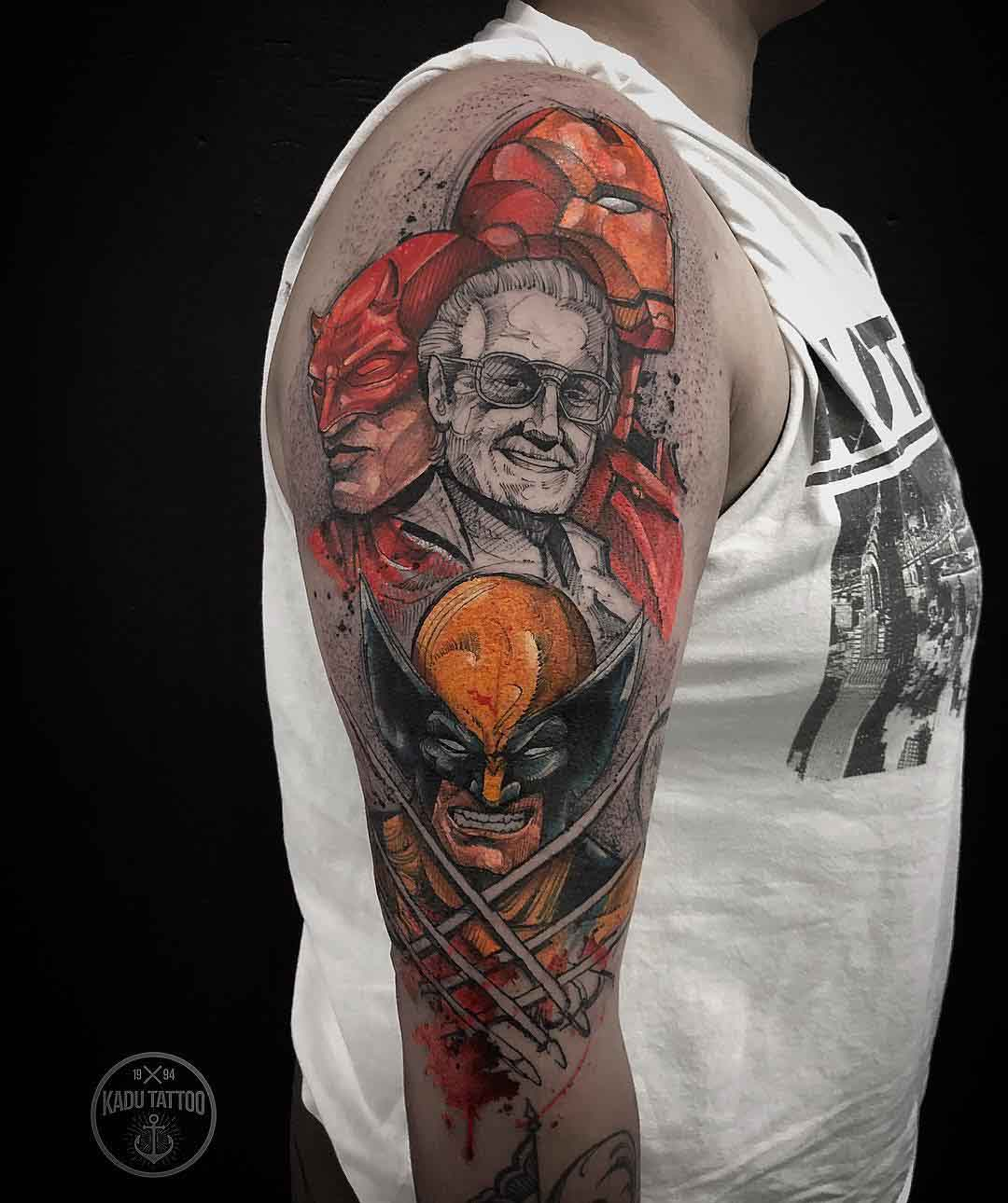 tribute tattoo stan lee