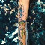 Watercolor Butterfly Tattoo Sleeve